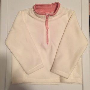 NWOT Old Navy Girl's White Fleece Sweater